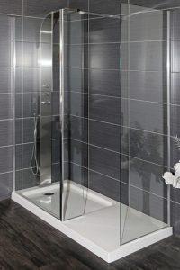 modern frameless shower